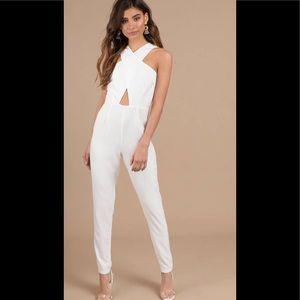 Tobi white jumpsuit